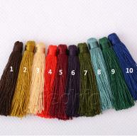 5.5cm Semifinished Small Silk Tassels Head-for Bracelets, DIY Home Decor, Jewelry Designs, Decorative-10pcs/pack STT005
