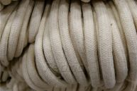 32-Strand Natural Solid Diamond-Braided Cotton Rope  300 Yds/Roll 5mm 009387