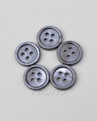 Black Iridescent Natural Shell Buttons with 4 holes 1000pcs CB009