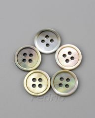 Iridescent Black Mother of Pearl Shell Buttons with 4 Holes 1000pcs-CB012