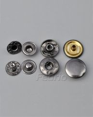 Engraved Flower Star Metal Snap Buttons 1000 Sets SF31