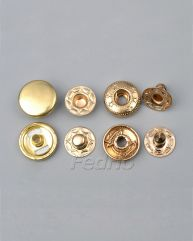Gold Glossy Metal Snap Buttons 12.5mm 1000 sets-SF10