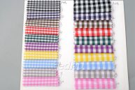 Solid Check Plaid Fabric Pocket Cloth for Sewing Quilting 009320