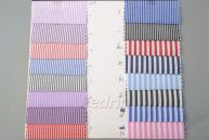 3*3mm Yarn Dyed Striped Pocketing Fabric for Sewing Quilting 009322