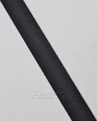 Black herringbone ribbon 16mm 55yards-RB48