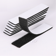 Black/White Self-Adhesive Hook and Loop Sticky Back Straps 50pairs/Pack 009312