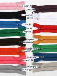 #3 Colored Closed-End Nylon Coil Zipper 10pcs/Pack 009298
