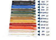#3 Closed-End Metal Zipper for Sewing Coats Jacket Duffle Bags 10pcs/Pack 009299