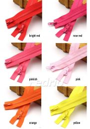 #5 Two-Way Open-End Plastic Zipper for Tailor Sewing Crafts Bag Garment 10pcs/Pack 009305