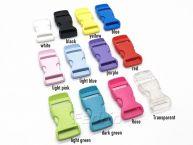Colored Nylon Single Adjust Side Release Plastic Buckles 100pcs/Pack 009323