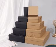 Glossy Paper Boxes with Lid and Base