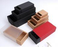 Kraft Slide Drawer Paper Boxes with Border Bottom 5pcs 009353