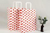 Polka Dot Flat Handle Paper Bags-009358