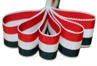 Red White & Navy Tri-Color Stripe Grosgrain Ribbon 100 Yds/Roll-009381
