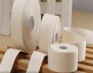 White Herringbone Cotton Twill Tape Ribbon 45m/Roll-009385