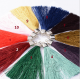 10cm Silk Tassels with Metal Cap for Retail Keychains, Bracelets, DIY Home Decor-10pcs/pack STT004