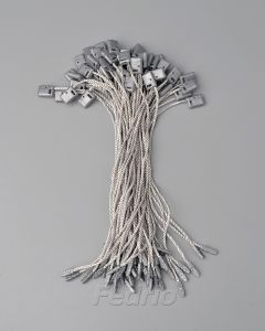 Grey Hang Tag Polyester String with Plastic Square Single Plug1000pcs/pack  HTS176