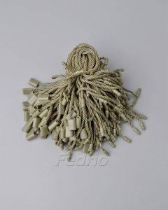Khaki Army Green Polyester Hang Tag String with A Single Plug 1000pcs/Pack HTS178