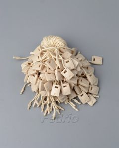 Beige 100% Cotton Hang Tag String with Plastic Single Plug Square Buckle 1000pcs/pack  HTS181