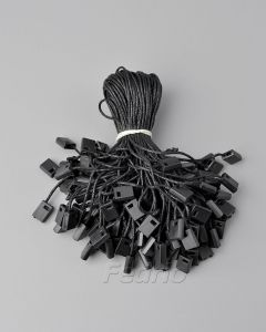 Black/White  Plastic Hang Tag Cotton Waxed Square String Fasten with Hook Ties 1000pcs/pack HTS184