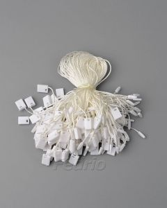 White Hang Tag Polyester String with Plastic Single Plug Tag Seals 1000pcs/pack HTS188
