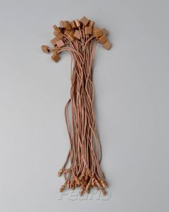 Pink/Brown Hang Tag Cotton Waxed String with Plastic Single Plug and Square Buckle Fastener 1000pcs/pack HTS213