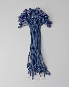 Navy Blue Plastic Polyester Hang Tag Braided String with Square Buckle and Single Plug 1000pcs/pack  HTS219