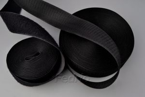 Black/White Polyester Hook and Loop Tape Roll 24m/Pair 009308